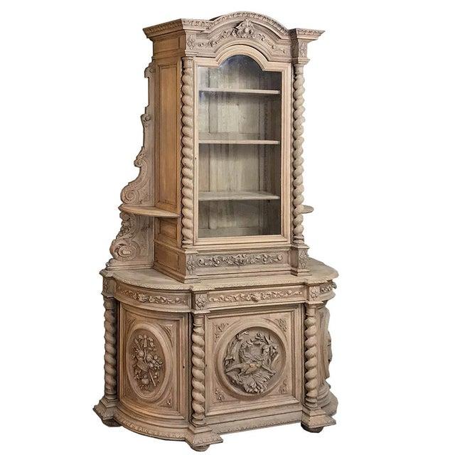 19th Century Renaissance Stripped Oak Hunt Bookcase For Sale - Image 13 of 13