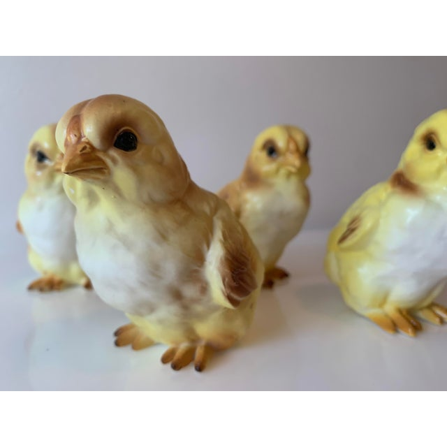 Early 20th Century Lefton Porcelain Baby Chick Figurines - Set of 4 For Sale In Miami - Image 6 of 7