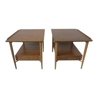 Morgantown Mid-Century Mahogany End Tables - a pair For Sale