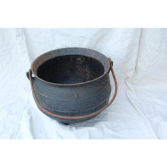Vintage Cast Iron Cauldron For Sale In New York - Image 6 of 6
