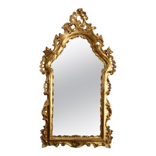 Oversized French Rococo Style Giltwood over Mantel Mirror, 20th Century For Sale