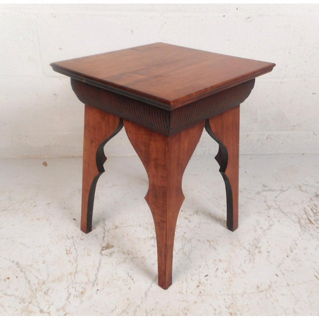 Small Mid-Century Modern Sculpted Side Table or Pedestal For Sale In New York - Image 6 of 6