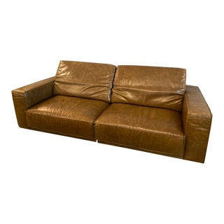 Magnificent Vintage Used Leather Couches Sofas For Sale Chairish Dailytribune Chair Design For Home Dailytribuneorg