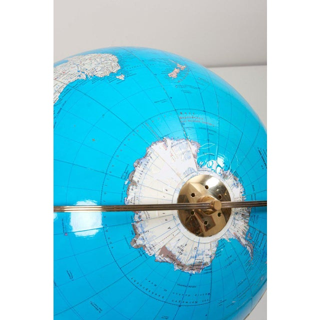 Huge Vintage Illuminated Globe With Brass Stand For Sale - Image 10 of 13