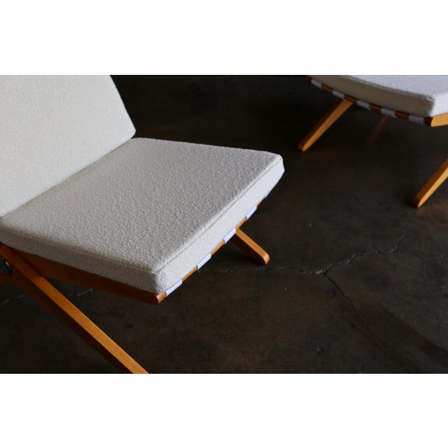 Scissor Lounge Chairs by Pierre Jeanneret for Knoll International - a Pair For Sale - Image 11 of 12