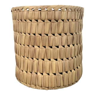 1970s Vintage Woven Reed Planter For Sale