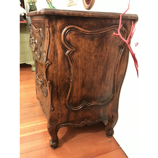 18th Century Style Carved French Provincial Dresser For Sale - Image 4 of 13