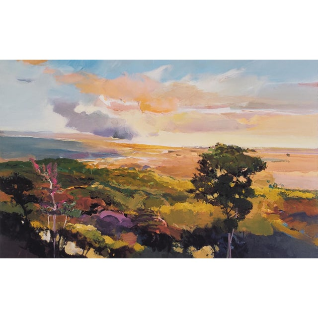 This limited edition print by California painter John Maxon features an impressionist-inspired landscape in the artist's...