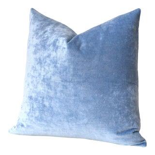 Ice Blue Velvet Euro Sham 24x24 For Sale