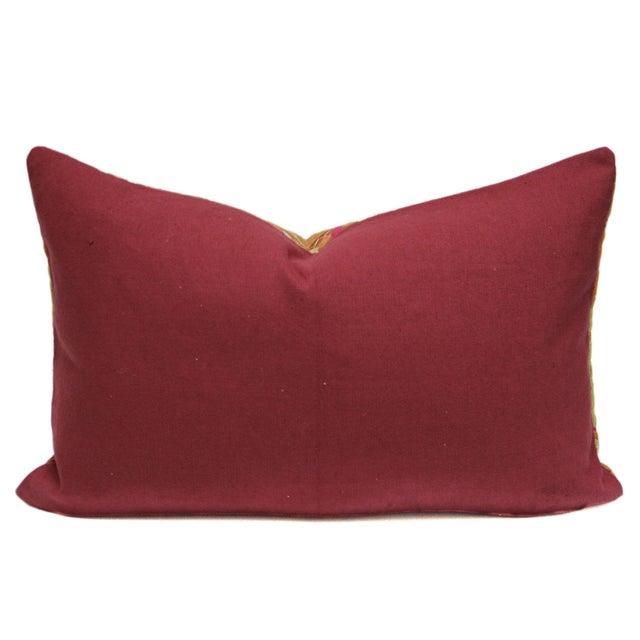 Stately Bagh Phulkari Lumbar Pillow - Image 2 of 3