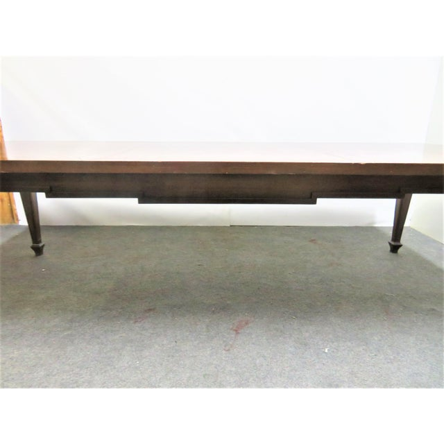 Italian Italian Style Walnut Dining Table For Sale - Image 3 of 9