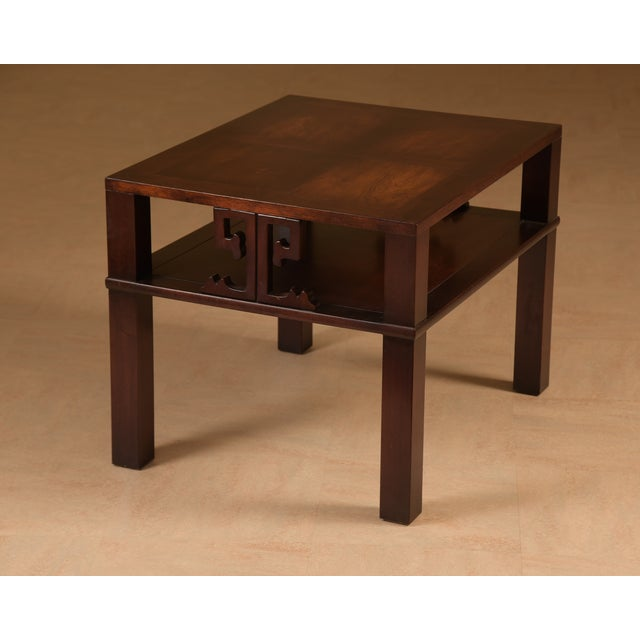 Asian Mid-Century James Mont Style End Tables - A Pair For Sale - Image 3 of 7