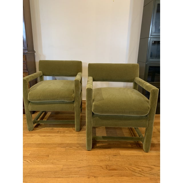 Late 20th Century Baughman Style Armchairs- A Pair For Sale - Image 9 of 9
