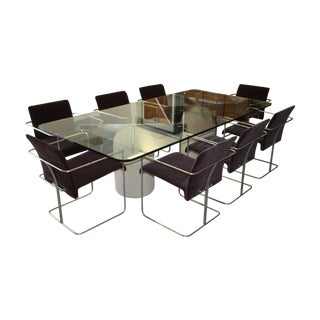 Giovanni Offredi for Saporiti Paracarro Dining Set For Sale