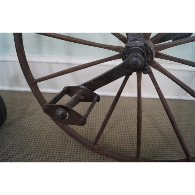 Antique Iron High Wheel Bicycle For Sale - Image 4 of 10