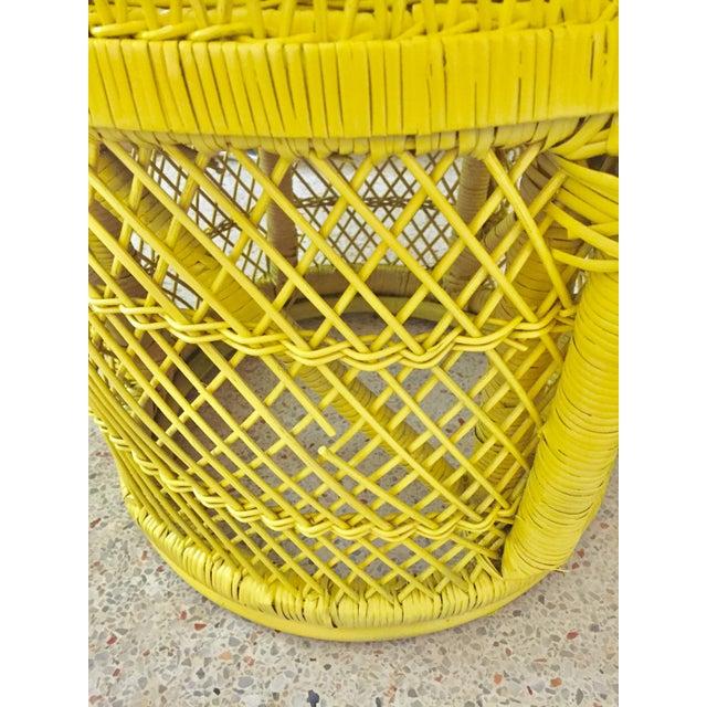 Mid-Century Rattan Wicker Fan-Back Peacock Chair - Image 8 of 9