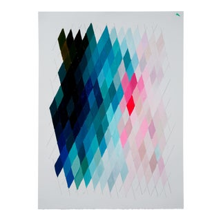 Blue & Pink Geometric Contemporary Painting
