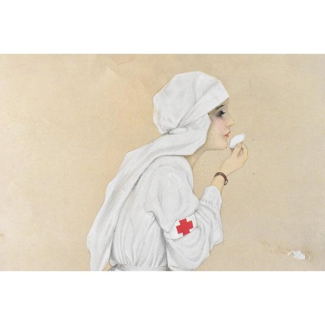 "Vintage Poster Print of ""Little Sister"" Wwi Nurse 1915 by Raphael Kirchner For Sale - Image 6 of 7"