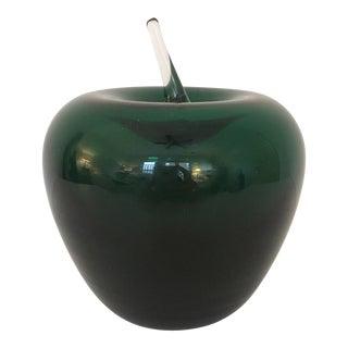 Vintage Italian Murano Art Glass Apple For Sale