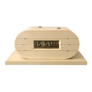 Art Deco French Ivory Tele-Vision Clock Corp Flip Clock, Circa 1930s For Sale