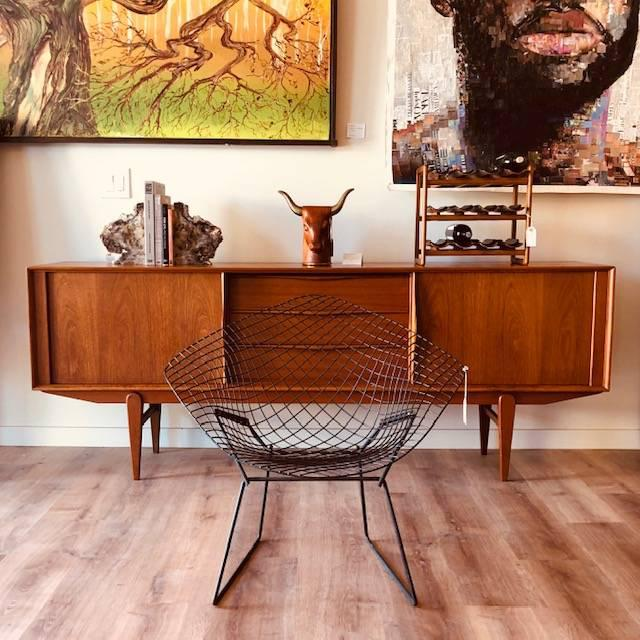 "Black Mid-Century Harry Bertroia-Designed ""Diamond Chair"" for Knoll For Sale - Image 8 of 10"