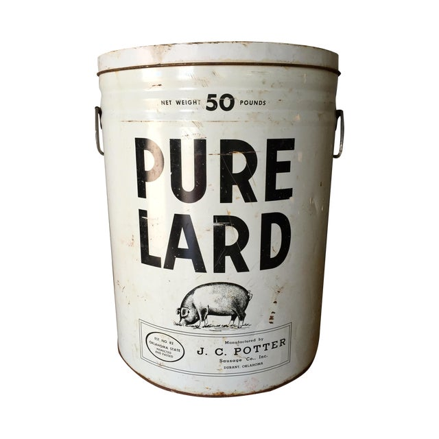 Vintage Lard Container From Oklahoma For Sale