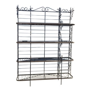 French Style Wrought Iron Bakers Rack For Sale