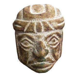 1970s Stone Tiki Head Figure For Sale
