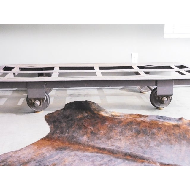 Cast Iron Late 20th Century Vintage Railroad Cart Daybed For Sale - Image 7 of 13