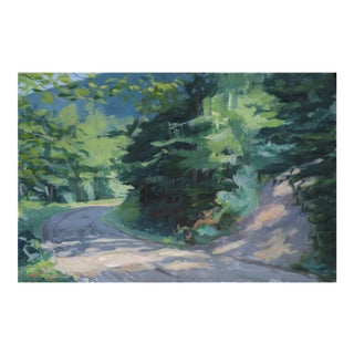 """Vermont Mountain Road"" Landscape Painting by Stephen Remick For Sale"