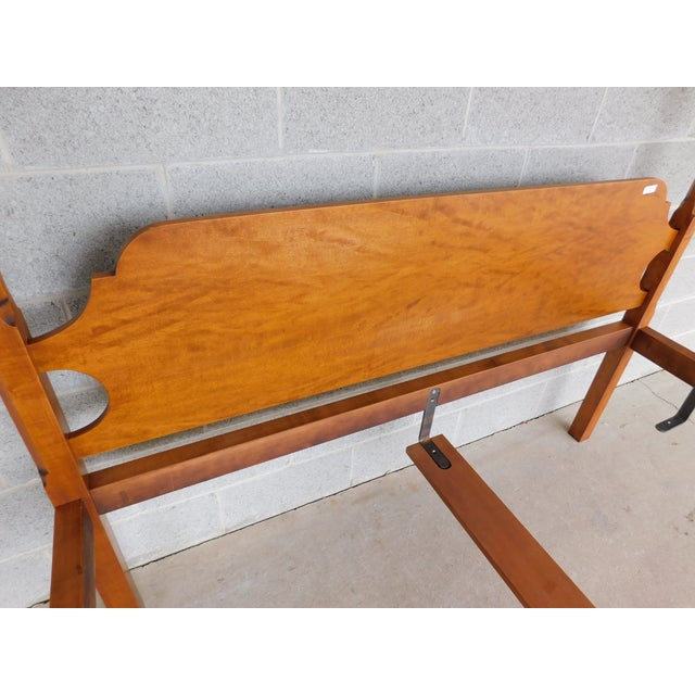 Eldred Wheeler Shaker Style Tiger Maple Queen Size Tester Poster Bed For Sale - Image 10 of 13