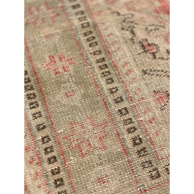 1920s Antique Distressed Turkish Oushak Area Rug - 6′6″ × 9′4″ For Sale - Image 11 of 13