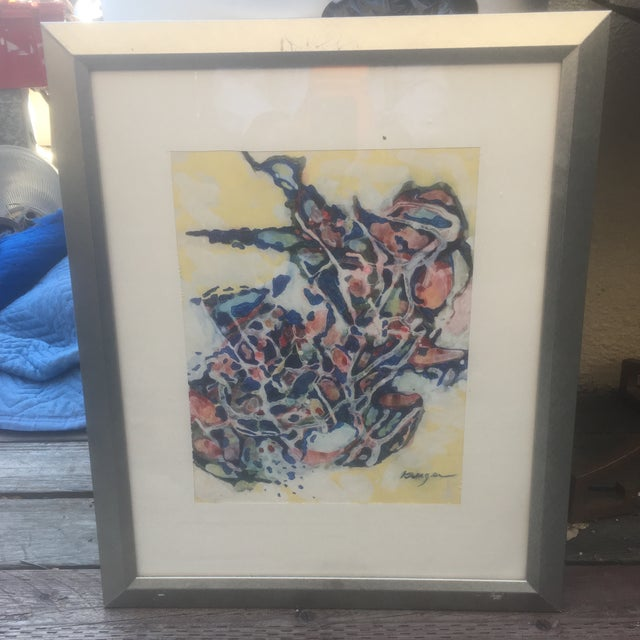 Mid-Century Abstract Painting by H. Kruger - Image 2 of 5