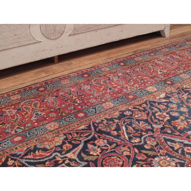 Islamic Antique Kashan Carpet For Sale - Image 3 of 6