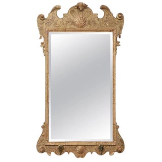 George I Gilt Gesso Carved Mirror For Sale