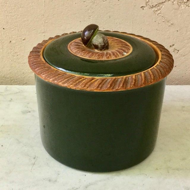 1920s Majolica Mushoom Tureen Pillivuyt For Sale - Image 5 of 5