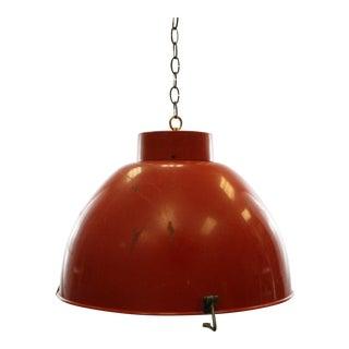 Red Vintage Industrial Pendant Light