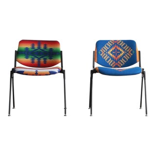 Pendleton/Castelli Stacking Chairs - a Pair For Sale
