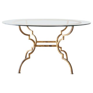 Italian Hollywood Regency Gilt Iron Dining or Centre Table For Sale