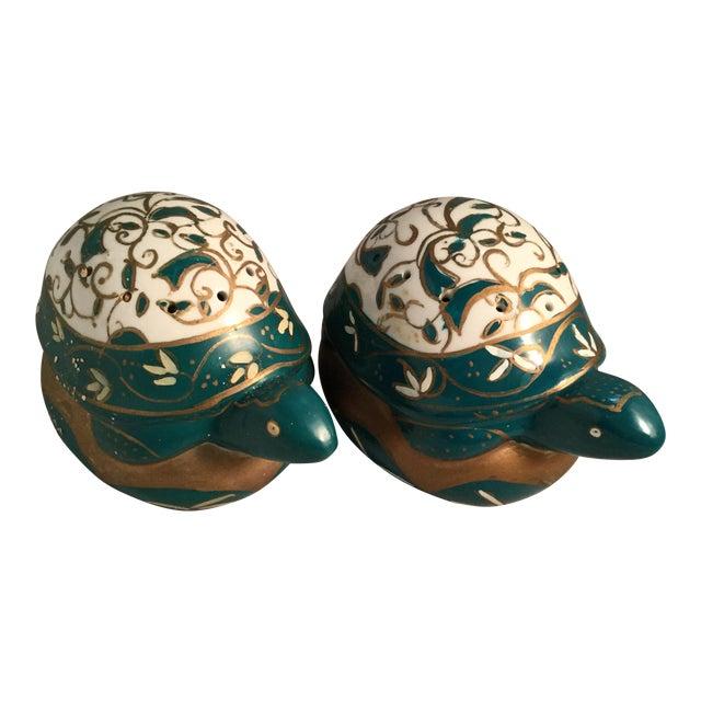 Vintage Elizabeth Arden Porcelain Turtles-a Pair For Sale