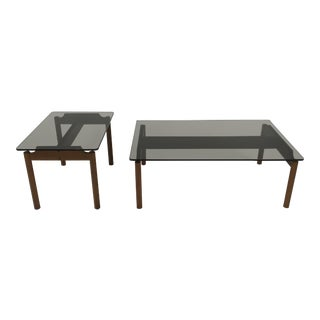Teak & Glass Coffee & Side Tables by Dux For Sale