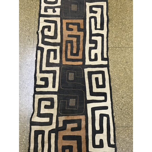 African Handwoven Kuba Cloth Panel For Sale In New York - Image 6 of 7