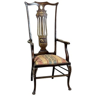 English Rosewood Armchair Circa 1870 For Sale
