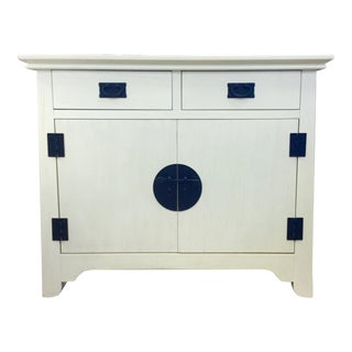 White Asian Modern Armoire