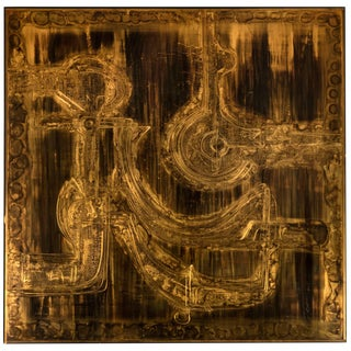 Bernhard Rohne Acid Etched Wall Sculpture For Sale