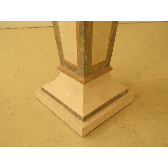 2000 - 2009 Modern Maitland Smith Style Marble Overlay Gueridon Pedestal For Sale - Image 5 of 8