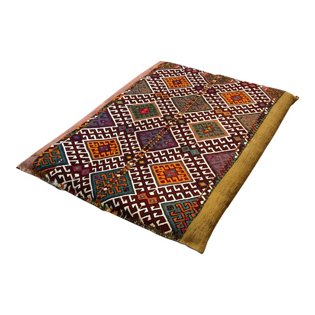 Turkish Kilim Floor Cushion For Sale