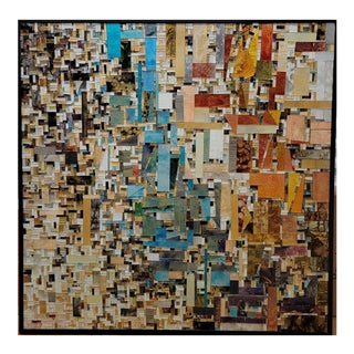 Contemporary Square Hand-Made Glass Mosaic by Mia Perdomo For Sale