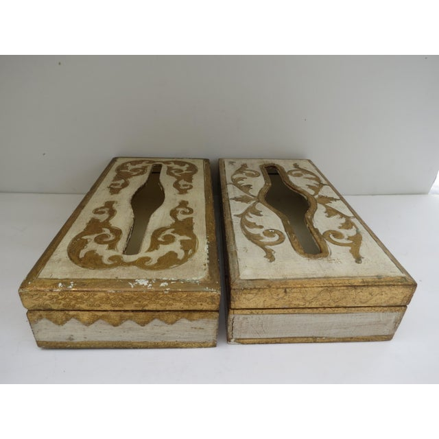 Florentine Tissue Boxes - A Pair - Image 3 of 6