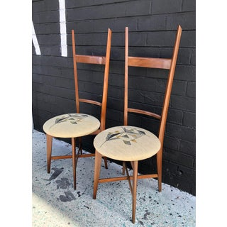 1960's Italian Modern Ladder Back Accent Chairs, a Pair Preview